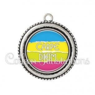 Pendentif résine Carpe Diem (025MUL03)