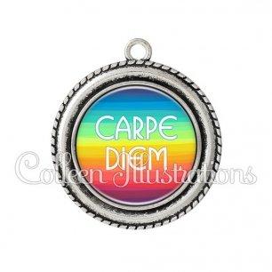 Pendentif résine Carpe Diem (025MUL04)