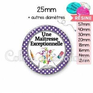 Cabochon en résine epoxy Maîtresse exceptionnelle (001VIO04)
