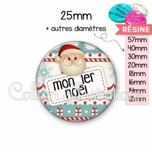 Cabochon en résine epoxy Mon 1er Noël (003MUL06)