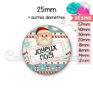 Cabochon en résine epoxy Joyeux Noël (003MUL06)