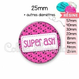 Cabochon en résine epoxy Super ASH (003ROS01)