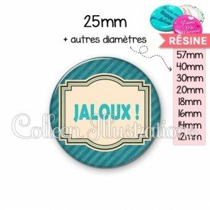 Cabochon en résine epoxy Jaloux (004BLE01)