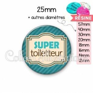 Cabochon en résine epoxy Super toiletteur (004BLE01)