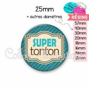 Cabochon en résine epoxy Super tonton (004BLE01)