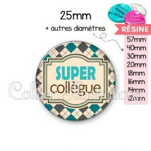 Cabochon en résine epoxy Super collegue (004MUL01)