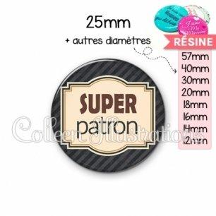 Cabochon en résine epoxy Super patron (004NOI01)