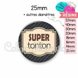 Cabochon en résine epoxy Super tonton (004NOI01)
