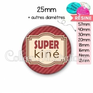 Cabochon en résine epoxy Super kiné (004ROU01)