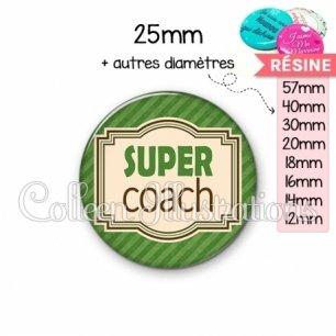 Cabochon en résine epoxy Super coach (004VER01)