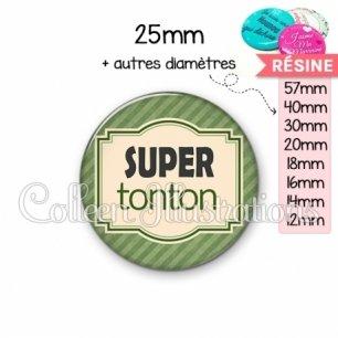 Cabochon en résine epoxy Super tonton (004VER02)