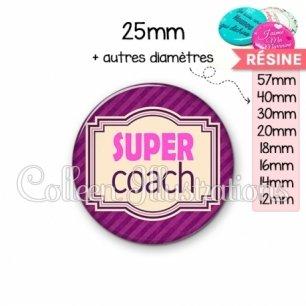 Cabochon en résine epoxy Super coach (004VIO02)