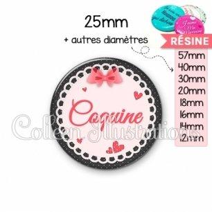 Cabochon en résine epoxy Coquine (005ROS01)