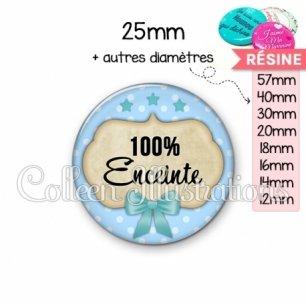 Cabochon en résine epoxy 100% enceinte (006BLE04)