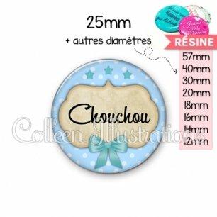 Cabochon en résine epoxy Chouchou (006BLE04)