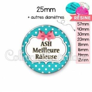 Cabochon en résine epoxy ASH râleuse (006BLE07)