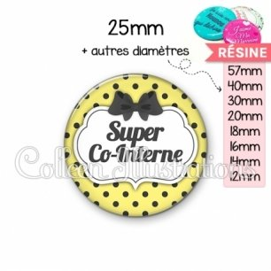Cabochon en résine epoxy Super co-interne (006JAU01)