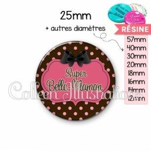 Cabochon en résine epoxy Super belle-maman (006MAR01)