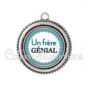 Pendentif résine Frère génial (028BLE02)