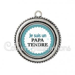 Pendentif résine Pata tendre (028BLE02)