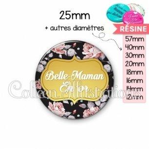 Cabochon en résine epoxy Belle-maman en or (006MUL12)