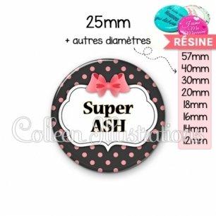 Cabochon en résine epoxy Super ASH (006NOI22)