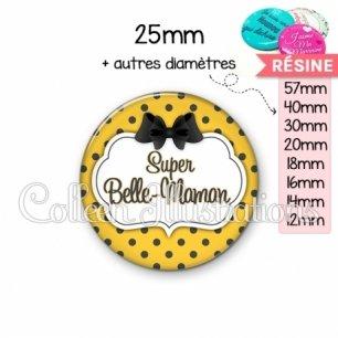 Cabochon en résine epoxy Super belle-maman (006ORA01)