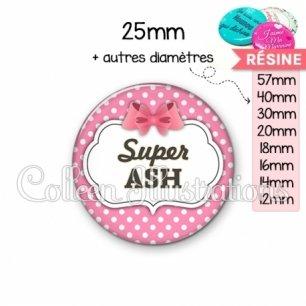 Cabochon en résine epoxy Super ASH (006ROS02)