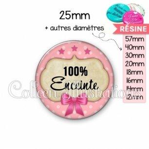 Cabochon en résine epoxy 100% enceinte (006ROS03)