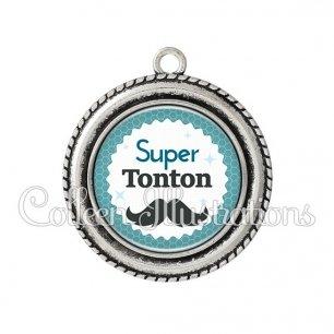 Pendentif résine Super tonton (028BLE04)