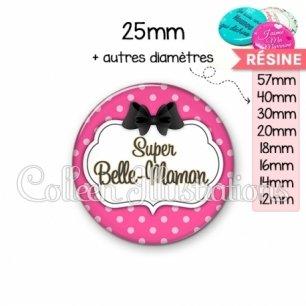 Cabochon en résine epoxy Super belle-maman (006ROS06)