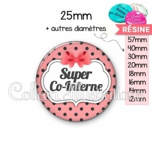 Cabochon en résine epoxy Super co-interne (006ROS10)