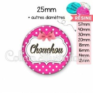 Cabochon en résine epoxy Chouchou (006ROS11)