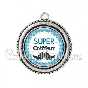 Pendentif résine Super coiffeur (028BLE06)