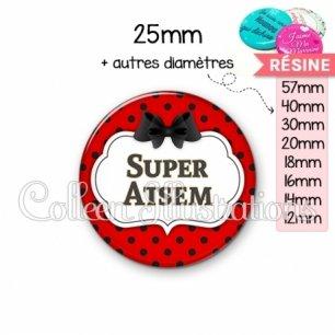 Cabochon en résine epoxy Super ATSEM (006ROU03)