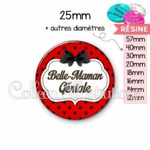 Cabochon en résine epoxy Belle-maman géniale (006ROU03)