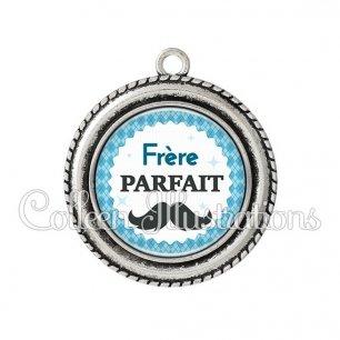 Pendentif résine Frère parfait (028BLE06)
