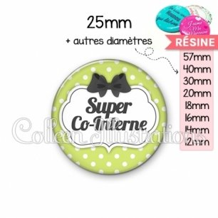 Cabochon en résine epoxy Super co-interne (006VER01)
