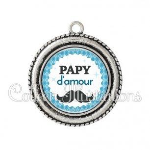 Pendentif résine Papy d'amour (028BLE06)