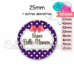 Cabochon en résine epoxy Super belle-maman (006VIO09)