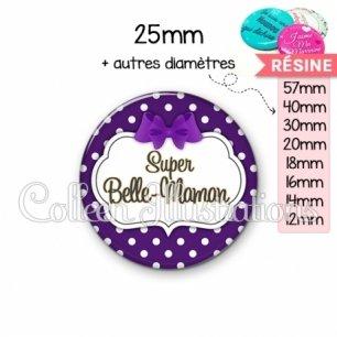 Cabochon en résine epoxy Super belle-maman (006VIO10)