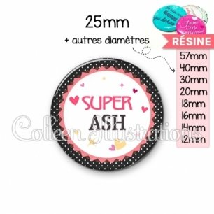 Cabochon en résine epoxy Super ASH (007NOI01)