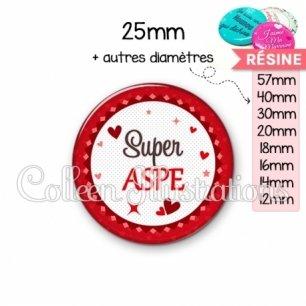 Cabochon en résine epoxy Super ASPE (007ROU01)