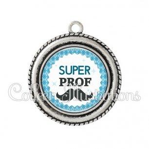 Pendentif résine Super prof (028BLE06)
