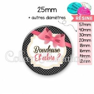 Cabochon en résine epoxy Boudeuse (008NOI04)