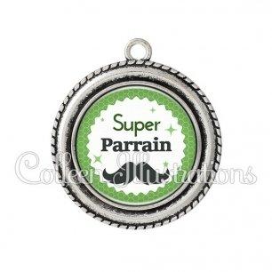 Pendentif résine Super parrain (028VER01)