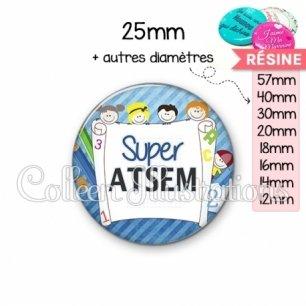 Cabochon en résine epoxy Super ATSEM (010BLE01)