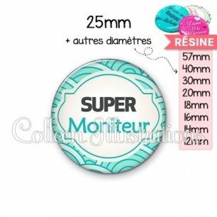 Cabochon en résine epoxy Super moniteur (011BLE02)