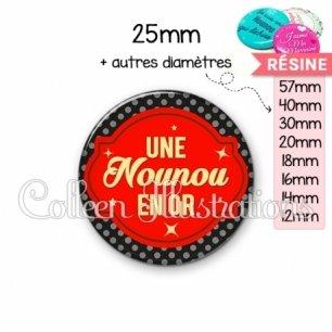 Cabochon en résine epoxy Nounou en or (011NOI02)
