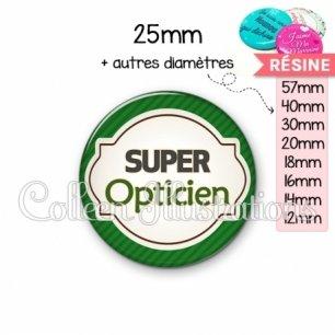 Cabochon en résine epoxy Super opticien (011VER01)